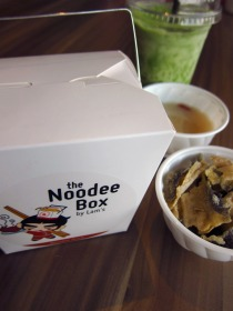 The noodee box set meal, just add 3 bucks
