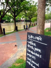 a good cuppa by Singapore river